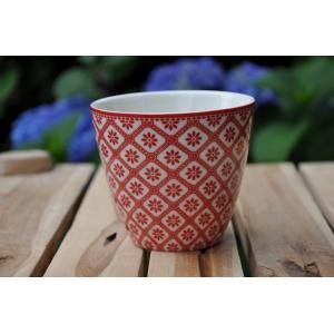 greengate bianca red latte cup