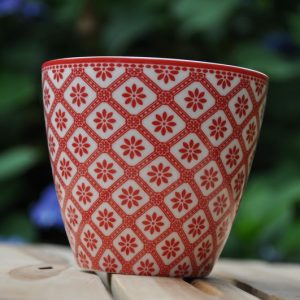 greengate bianca red latte cup