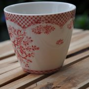 greengate stephanie red latte cup