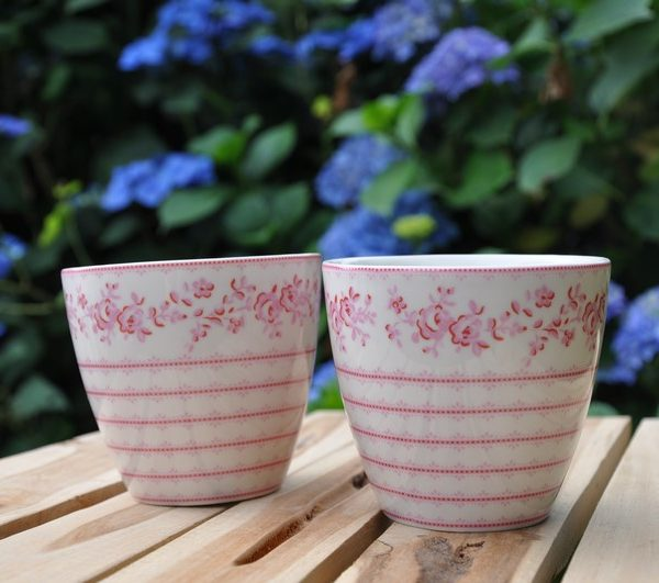 greengate audrey rasperry latte cup