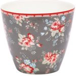 greengate abelone dark grey latte cup