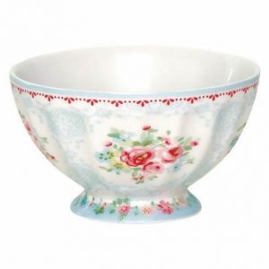 greengate simone white french bowl