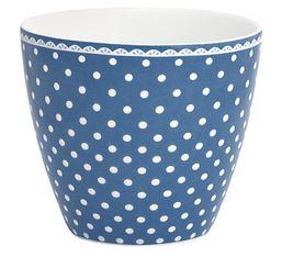 greegate spot indigo latte cup