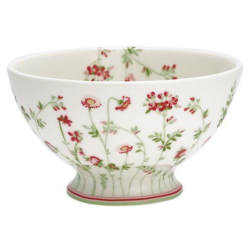 camille white soup bowl