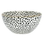 dot black medium bowl wgold