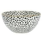 dot black medium bowl wgold