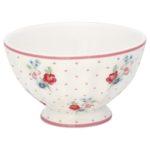 Greengate French bowl medium Eja white