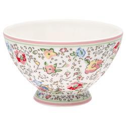 Greengate French bowl medium Viviane white